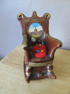 Super Vtg Ceramic Home Sweet Home West Virginia Rocking Chair Pincushion Tape Measure Ebay Gmtry Best Dining Table And Chair Ideas Images Gmtryco