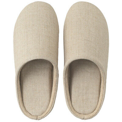 MUJI Navy XL 26.5~28cm Room Shoes Slippers Sandals Moma Cushion Soft
