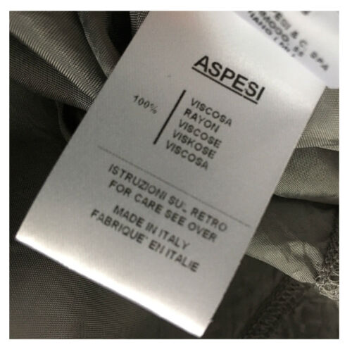 Coton À Made Aspesi 100 Italy Derrière Rayures T In Gris blanc shirt Gris B6qzvE