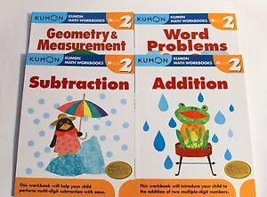KUMON-Math-Workbooks-Grade-2-Set-4-Books-FREE-Expedited-Shipping-Upgrade