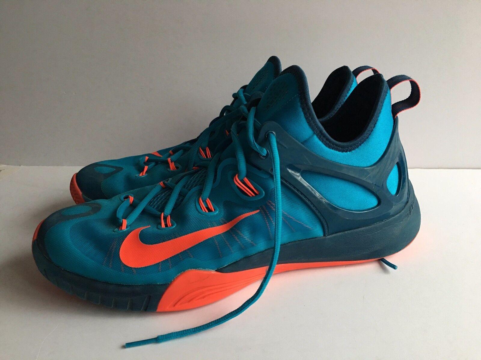 Mens Nike Lunar HyperRev Basketball bluee Lagoon Sz 13 705370 464