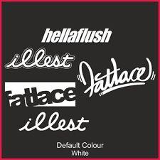 Illest Fatlace Hellaflush sticker pack 5 decals, JDM, VW DUB EURO, DRIFT, N2165