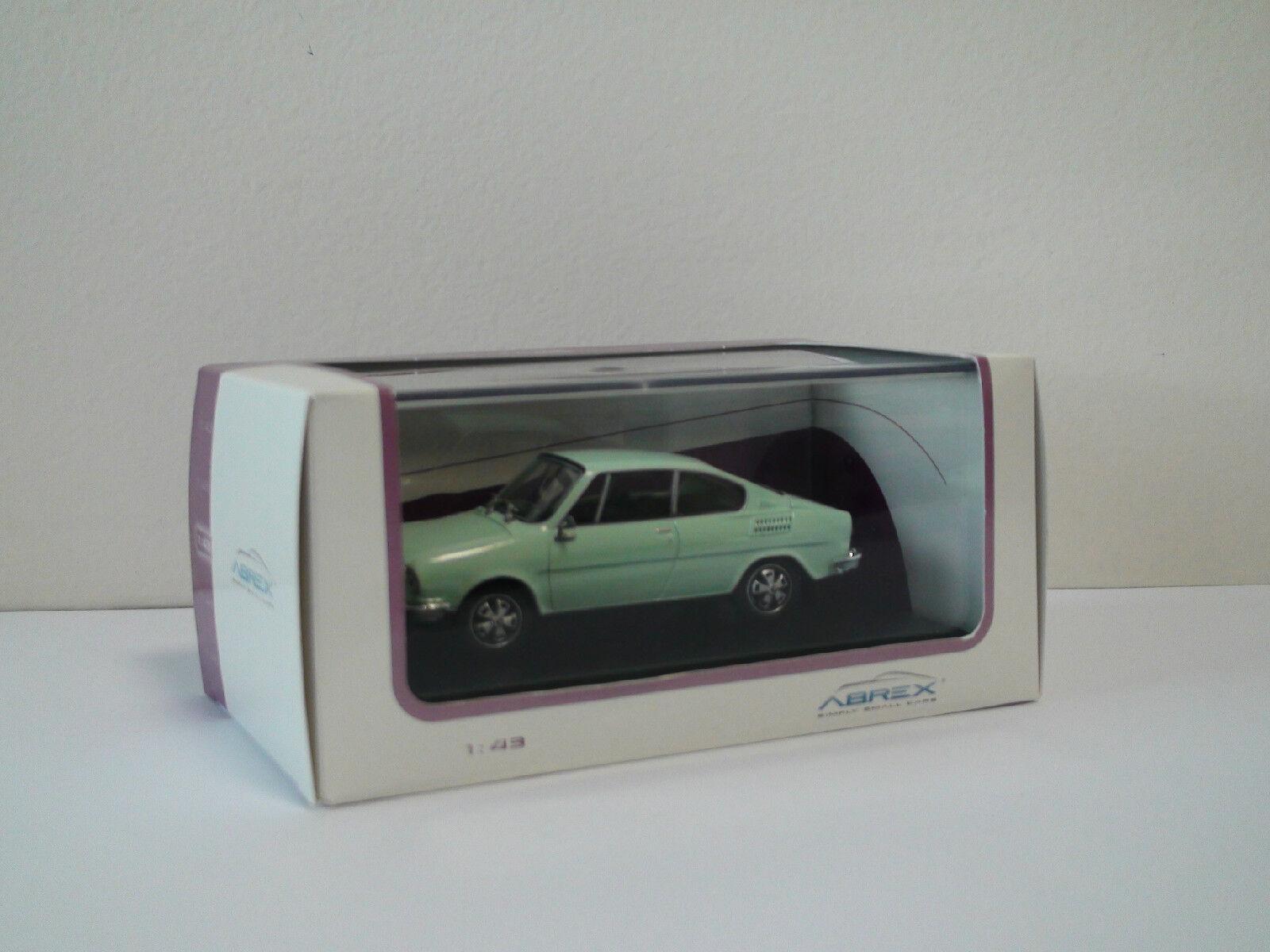 SKODA 110 R Coupe Coupe Coupe Diamante blancoo, 1 43 Abrex, sin pulir coches de culto eebdae