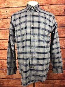 St-Johns-Bay-Mens-Size-Medium-Multi-Color-Plaid-Button-Down-Shirt-Long-Sleeve