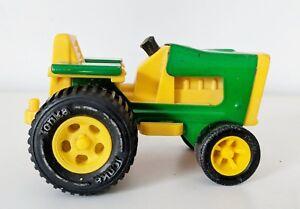 Vintage-1970-039-s-Tiny-Tonka-Farm-Tractor-No-995-811002-Green-Yellow-Very-Cleen