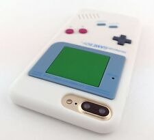 WHITE FUN GAME BOY GAMEBOY SILICONE RUBBER SKIN CASE COVER APPLE IPHONE 7 PLUS