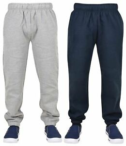 New-Mens-Plain-Fleece-Pocket-Jogging-Bottoms-Comfort-Jogger-Pant-Elasticated-Hem