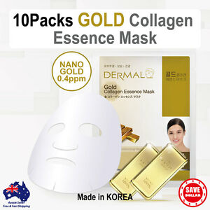 10x-DERMAL-Gold-Collagen-Essence-Facial-Face-Mask-Sheet-Skin-Pack-Korea
