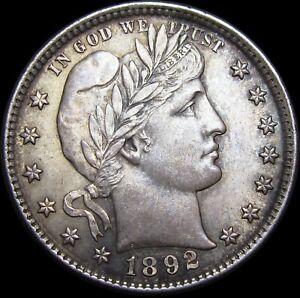 1892 Barber Quarter Silver ----  GEM BU++ Condition Original  ----  #K660