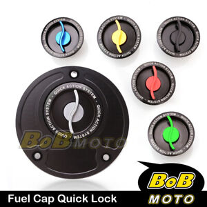Racing-CNC-Quick-Lock-Release-Gas-Fuel-Cap-For-Kawasaki-ZX-6R-636-Ninja-2013