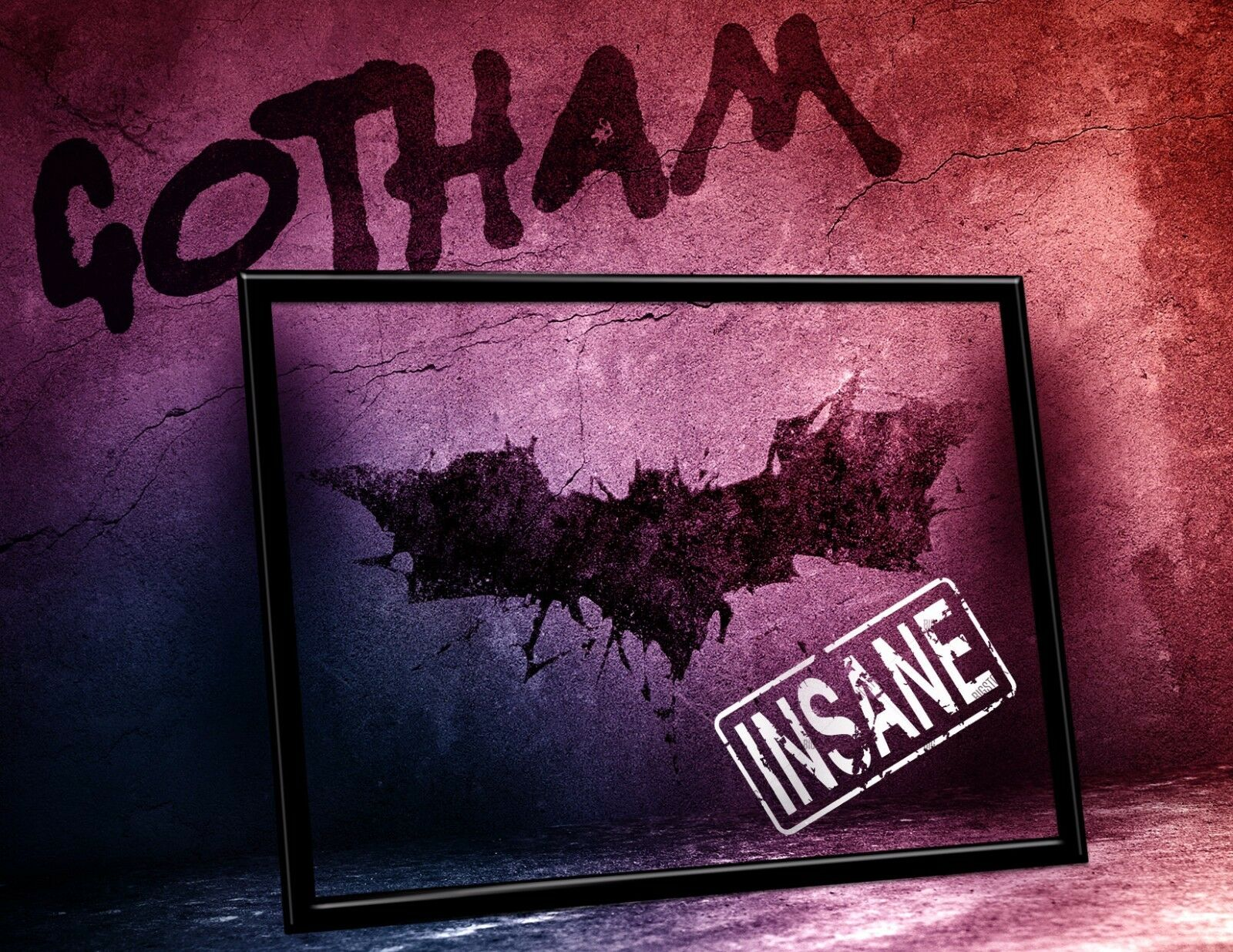fan gift Comic Con GOTHAM Arkham Certificate of INSANITY w// YOUR name Signed