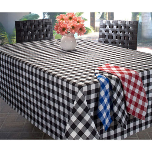 5 rectangulaire 60 x 126  à Carreaux Polyester nappes Made USA Table overlays