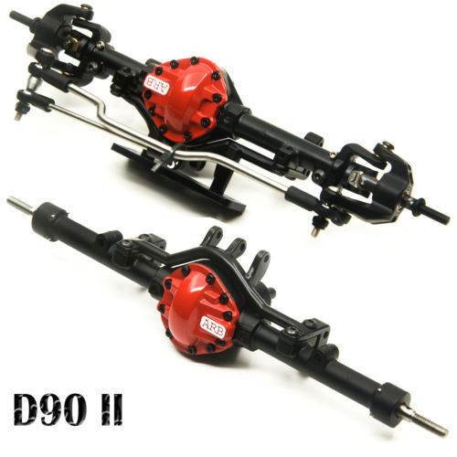 Alloy Front + Rear Axle Red For 1 10 RC Crawler Car Gelande II D90 4WD D110