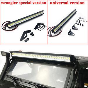 Metall Dach Lampe LED Lichtleiste für 1:10 Traxxas TRX4 SCX10 RC Crawler Auto