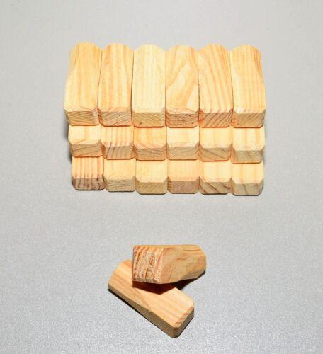 20 Ziernägel Abdeckkappe Holznägel Kiefer//Fichte 24x24x49 neu