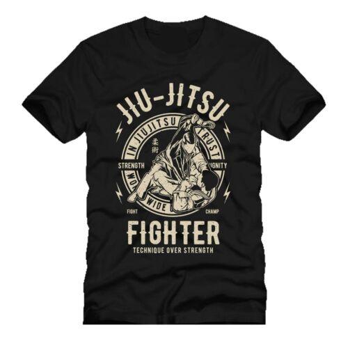 Le Jiu Jitsu Fighter Gym Mashup DTG Hommes T Shirt Tees
