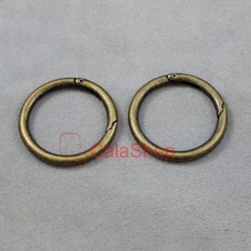 "Snap Clip Trigger Spring gate metal O Anneau porte-clés Boucle 1/"" 1.5/"" 25 mm 38 mm"