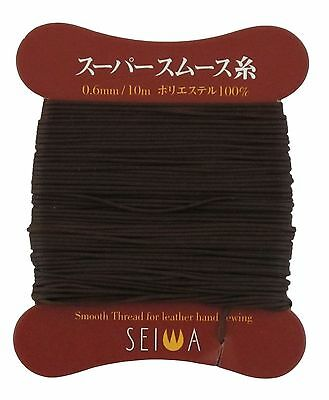 Deluxe Microfiber 0.6mm Leathercraft Polyester Waxed Leather Thread 10m Brown