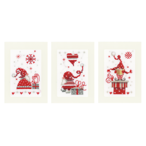 Biglietti Di Natale A Punto Croce.Dettagli Su Vervaco Kit Punto Croce Biglietti D Auguri Natale Gnomi Set Di 3