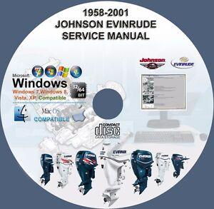 johnson evinrude outboard service repair manual 1958 2001 1 300 hp rh ebay com evinrude manual tilt problem evinrude manual tilt release