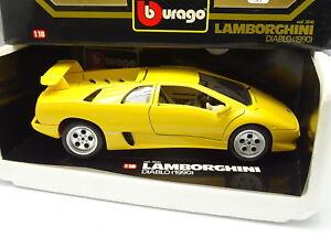 Burago 1 18 Lamborghini Diablo 1990 Yellow Ebay