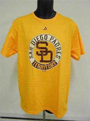 Nachdenklich Neu San Diego Padres Erwachsene Herren Large L Shirt Von Majestätisch 63md Jahre Lang StöRungsfreien Service GewäHrleisten Baseball & Softball