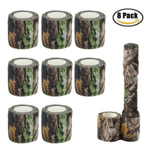 8-Roll-4-5M-Military-Camo-Stretch-Bandage-Camping-Camouflage-Tape-Rifle-Gun-Wrap