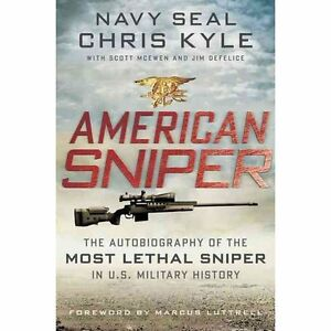 Autographed-Copy-of-Navy-SEAL-Chris-Kyle-039-s-book-American-Sniper