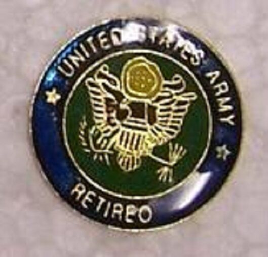 Hat Lapel Push Tie Tac Pin U S Army Retired NEW