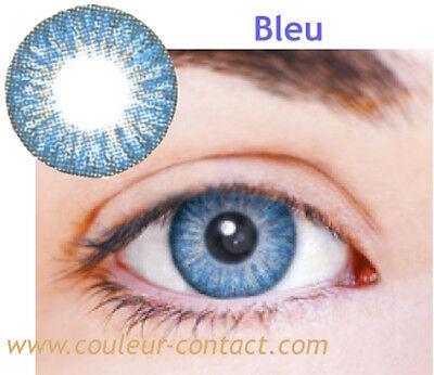 SALE: LENTILLES DE COULEUR BLUE COLOURED LENS VERRES CONTACT DARK EYES YEUX FONC