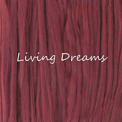 SPINNING FELTING Pencil Roving MERINO WOOL TOP Craft Fiber LIVING DREAMS Red