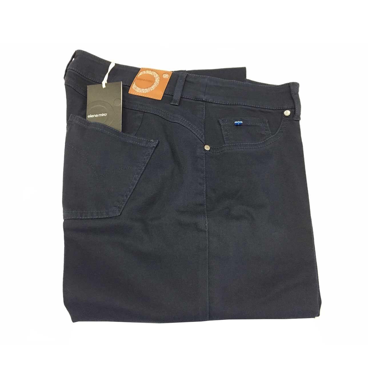 ELENA MIRO' women's trousers mod bluee jeans light cotton 89%