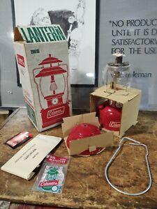 Vintage NOS Coleman Lantern 200A195 Red W/box Single Mantle 1972 Unfired 5/72
