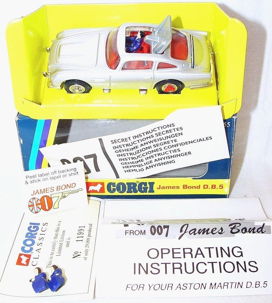 Corgi Toys 1 43 JAMES BOND 007 ASTON MARTIN DB.5  96655 MIB`95 Limited Ed. Rare