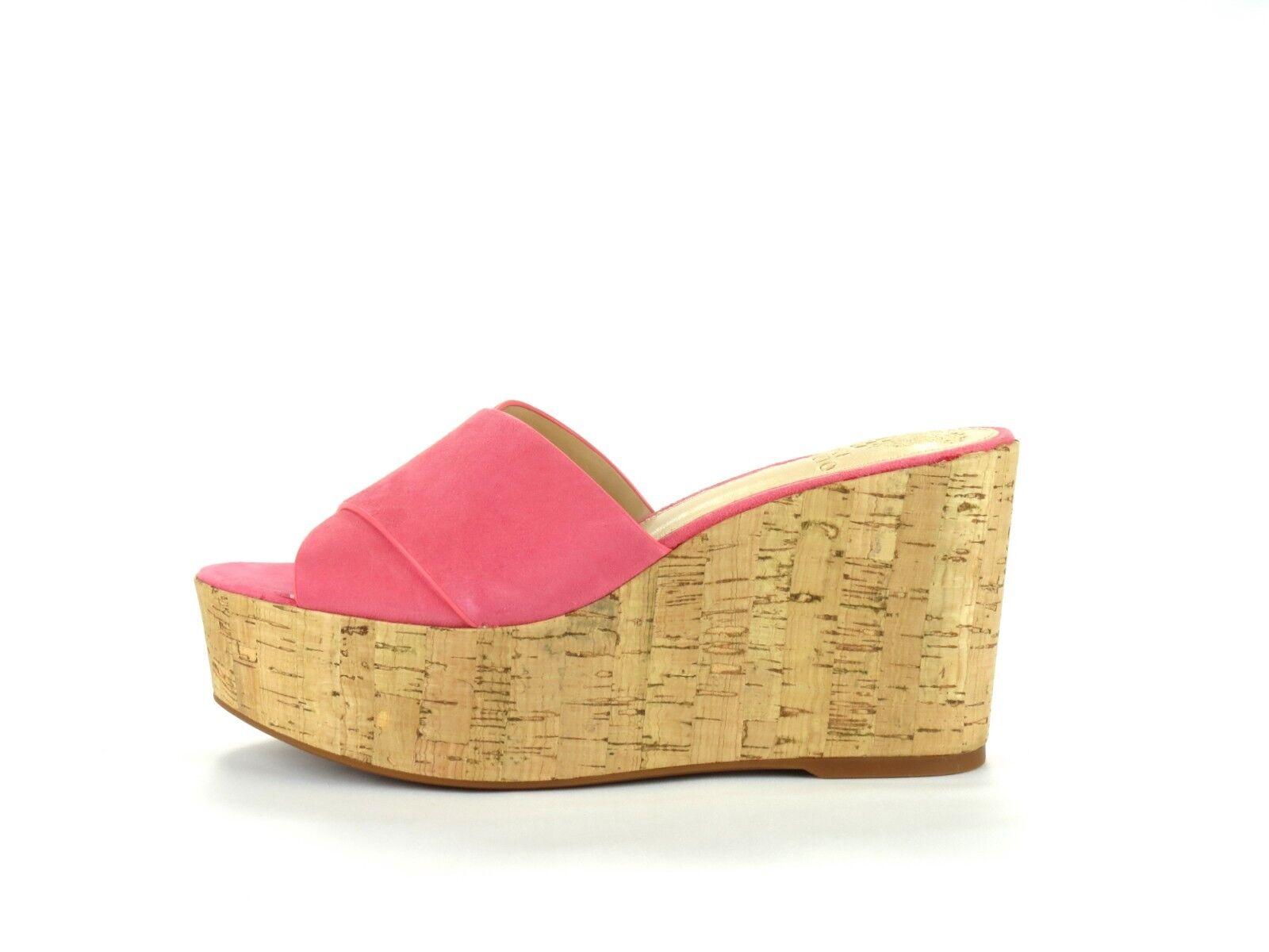 Vince Camuto Kessina Soft Cork Pink True Suede Leder Cork Soft Platform Wedge Sandale 8.5 9e81c2