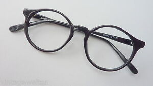 RED-Herren-Brille-mit-Pantoform-Kunststoff-schwarz-48-18-kleine-Glasform-Gr-S