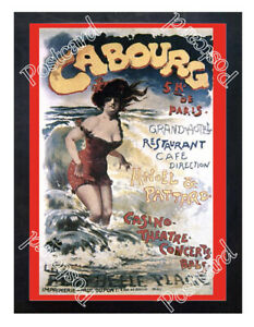 Historic-Tourism-Cabourg-city-About-1900-Advertising-Postcard