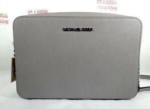 f049da082077 Michael Kors Jet Set Travel Large EW Leather Crossbody Bag in Pearl ...