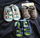 Carter's Baby Boy Layette Summer Sandal Shoes Beige/Navy size 1/2/4