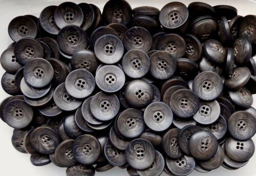 Q73A-Q73D 15 mm 17 mm 22 mm 28 mm marron chocolat Swirl 4 trous Boutons Bouton