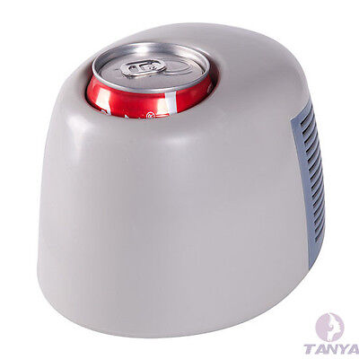 Car USB Powered Mini Fridge Drink Cans Cooling Fridge Cooler and Warmer Novelty
