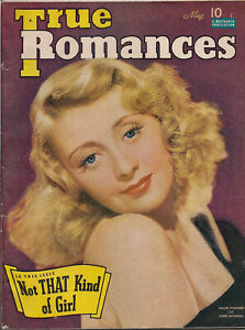 TRUE-ROMANCES-MAY-1941-JOAN-BLONDELL-Photo-Cover-Lots-of-ads