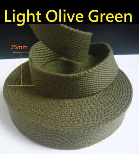"1/"" Spun Polyester Webbing DIY//Replacement Cotton Canvas Bag Shoulder strap//belt"