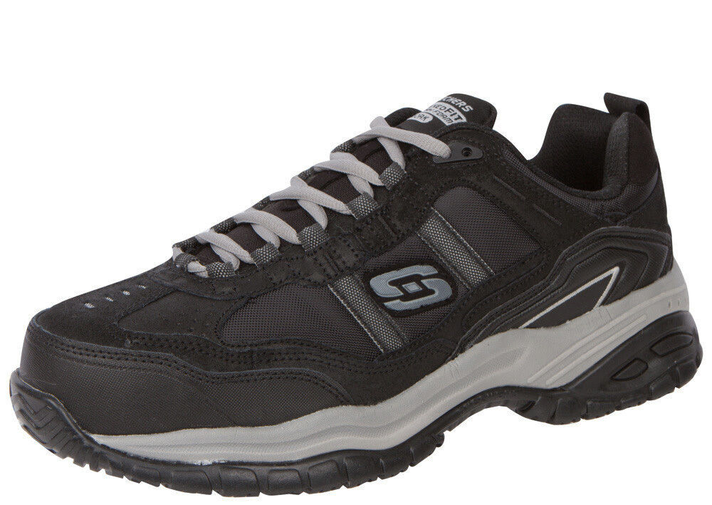 Skechers Men's 77013 Black/Gray Composite Toe Safety Shoes--Special Work Shoes--Special Safety b52e77