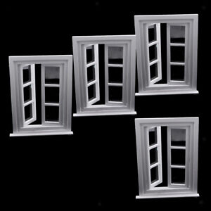Details About 4pcs Miniature Wooden Window 6 Pane Frame 112 Scale Dolls House Furniture