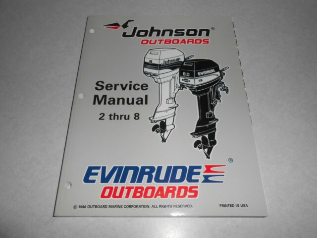 1997 2 Hp Thru 8 Hp Genuine Oem Johnson Evinrude Outboard