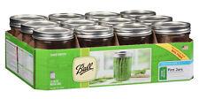 Ball Mason Jars Wide-Mouth Glass Canning Jar, Pint, Lid, 16 oz, 12pk Wedding DIY