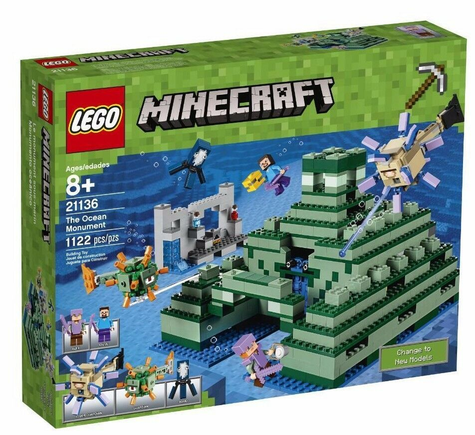 Lego Minecraft The Ocean Monumento Set 21136