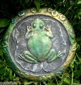 "Frog stepping stone mold plaster concrete casting mould 11/"" x 10/"" x 3//4/"" thick"