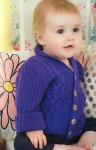 KNITTING-PATTERN-Baby-Cable-Ribbed-Jacket-Long-Sleeve-Cardigan-Sublime-4-ply